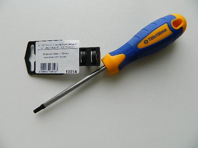 Инструмент Отвертка TORX с отверстием T25*100 KRAFT