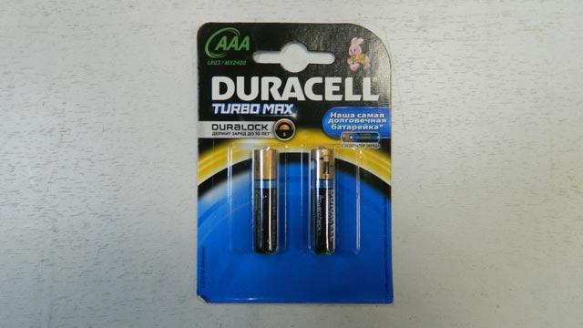 Батарейка DURACELL TURBO BL-2 AAA 1,5v для брелока сигнализации