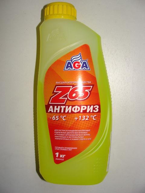 Антифриз AGA 1L желтый
