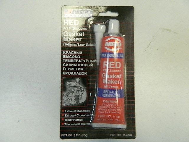 Герметик силиконовый ABRO 85гр красный