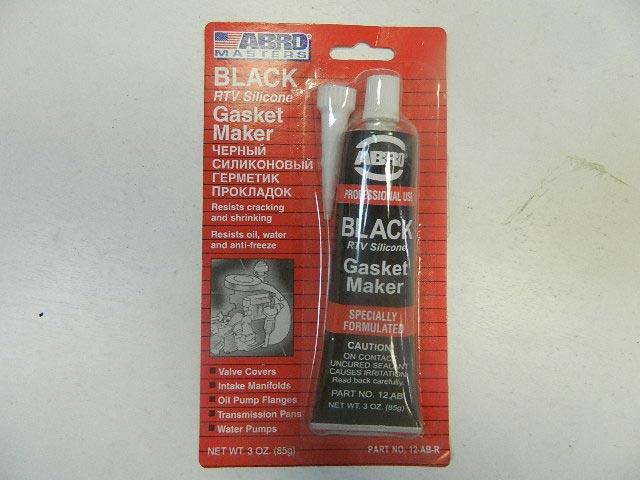 Герметик силиконовый ABRO 85гр черный