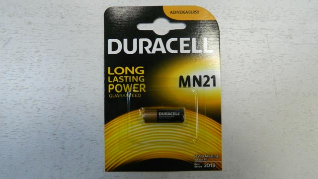 Батарейка DURACELL MN21 BL-1, 12v для брелока сигнализации
