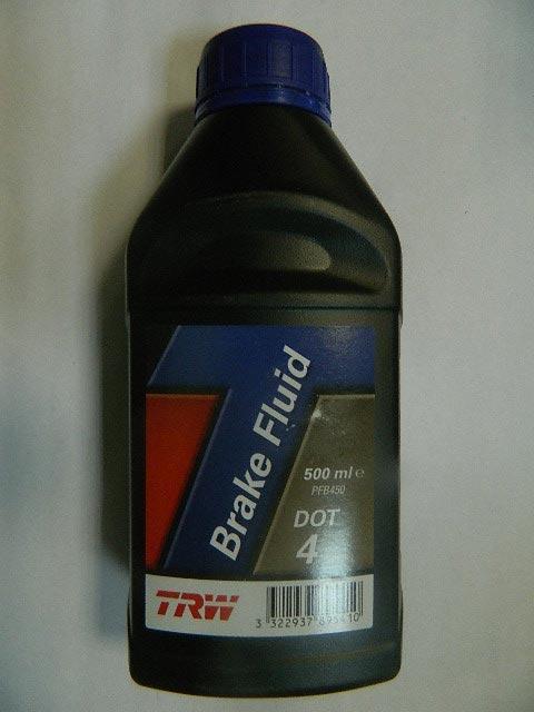 Жидкость тормозная DOT4 0.5L TRW PFB450