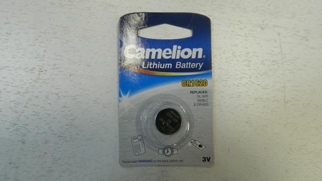 Батарейка CAMELION CR1620 BL-1 для брелока сигнализации