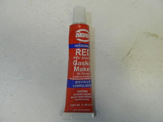 Герметик силиконовый ABRO 32гр красный