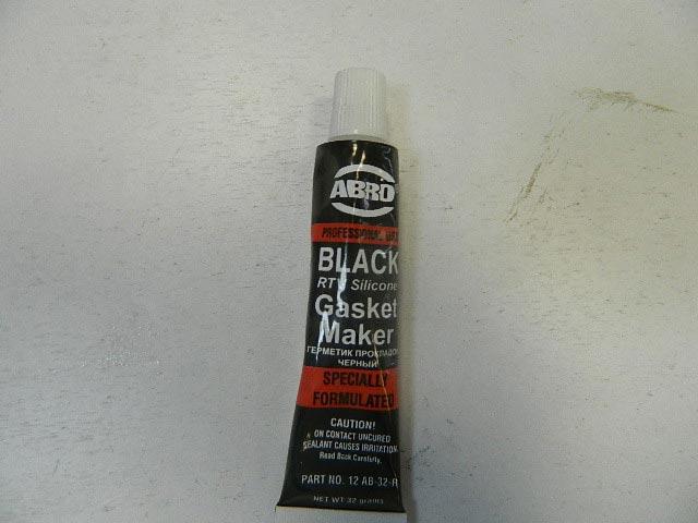 Герметик силиконовый ABRO 32гр черный